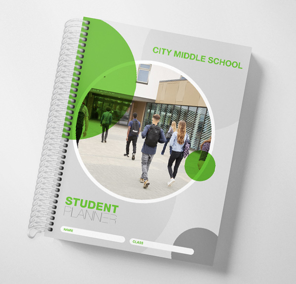 Customized Middle School Student Planners