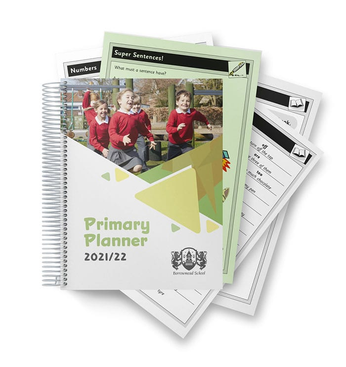 Primary Pupil Planner 2021/22 and pages