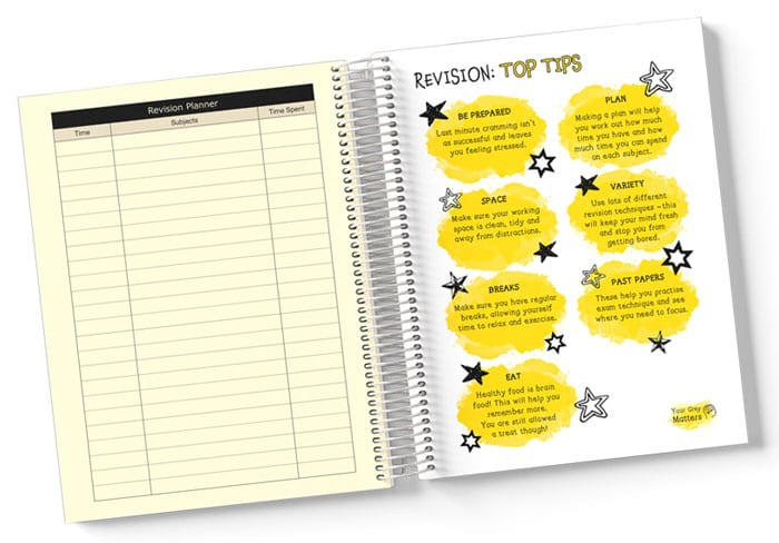 Secondary Student Planner Spread Pages, Revision