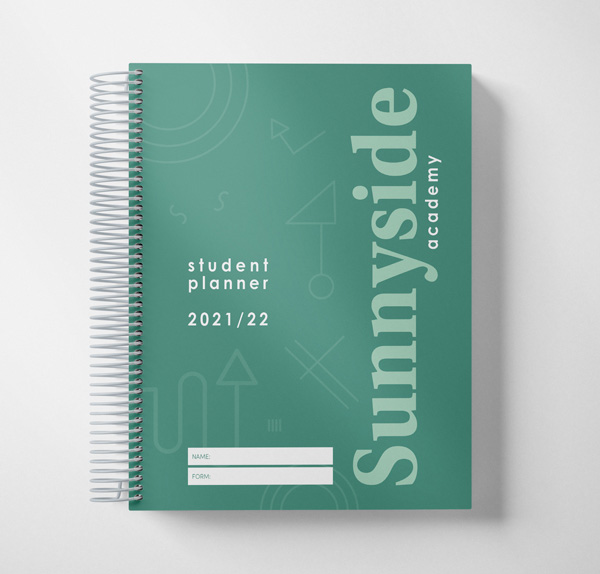 student planner illustration example cover