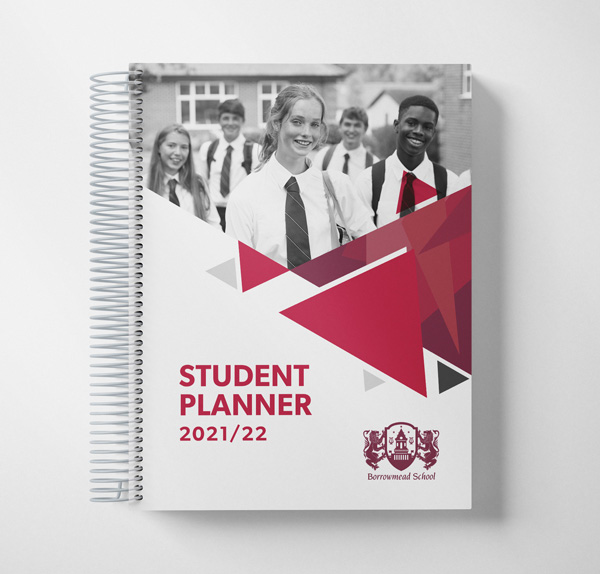 student planner photograph cover example