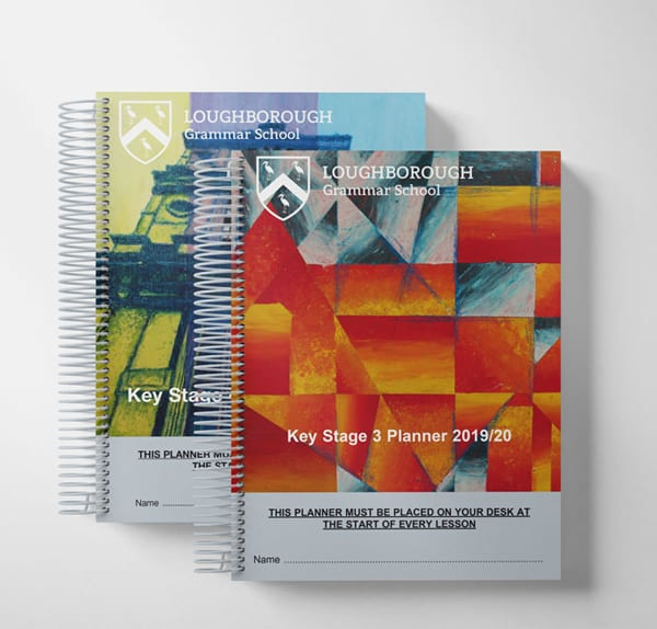 Student planner cover design multiple editions