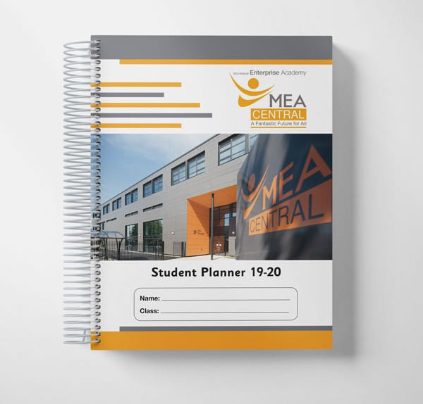 Student planner cover design photography