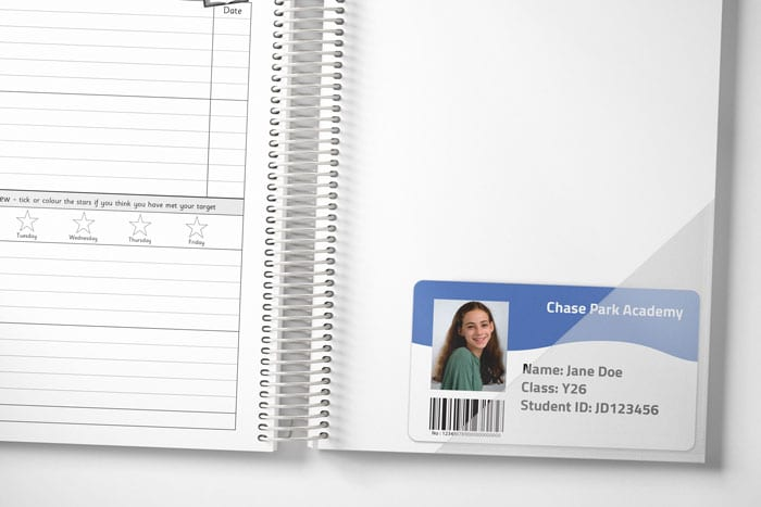Graphic of Internal Card Pocket For Student Planner