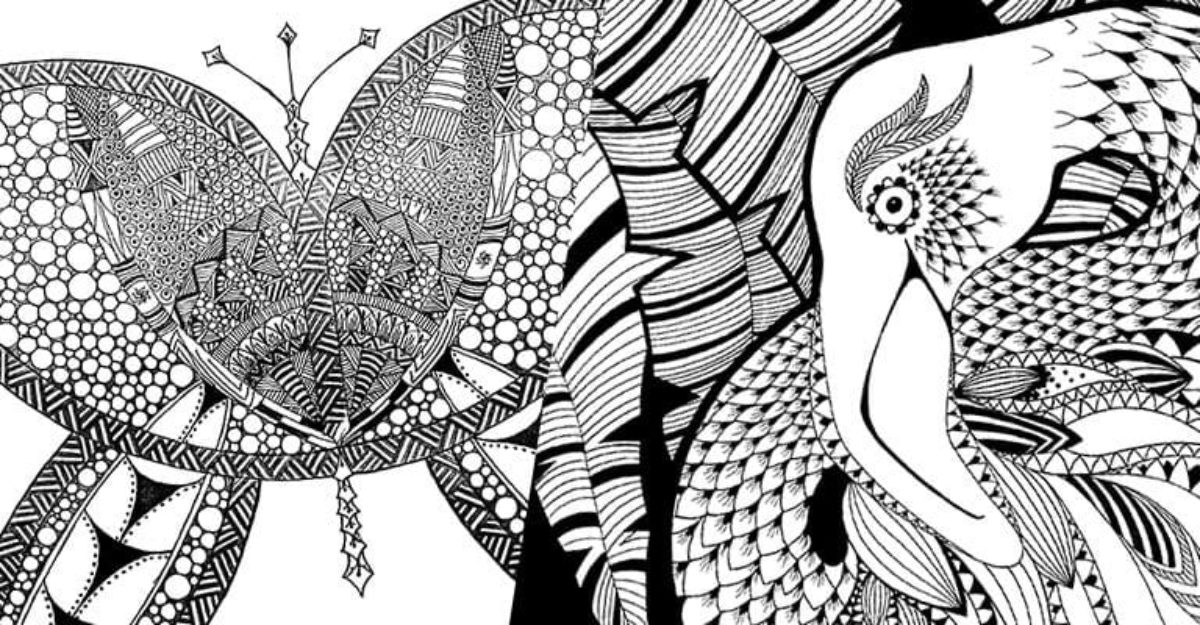 yearbook colouring page