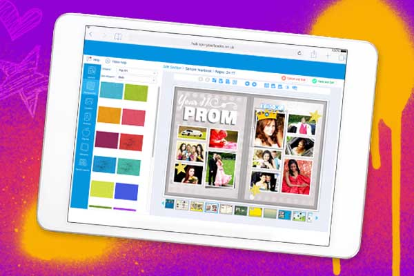 yearbook hub on a tablet device