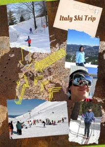 italy ski trip yearbook page