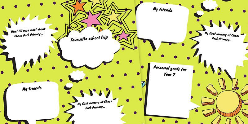 write your answer yearbook page