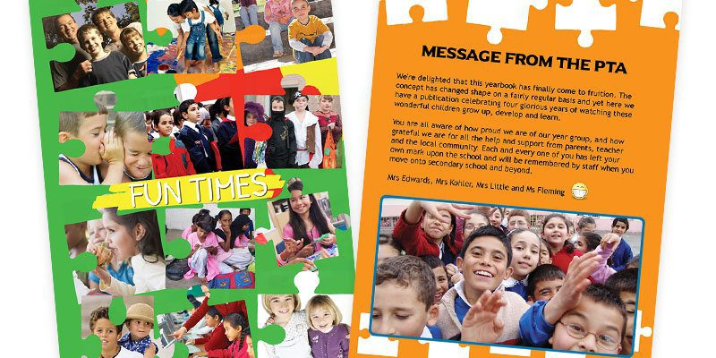 Yearbook Theme Idea Puzzles for Junior schools