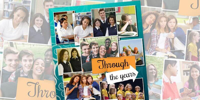 Yearbook Page Idea-Through the years