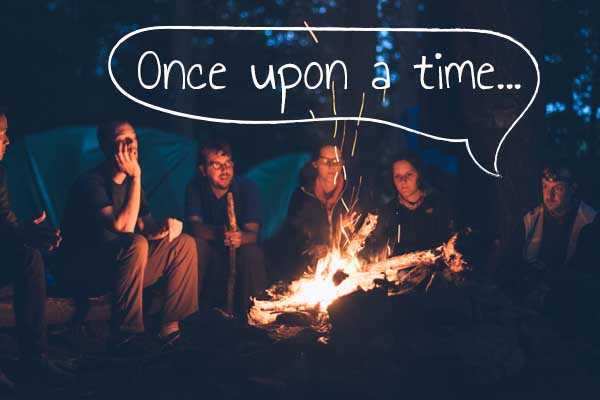 storytelling by campfire