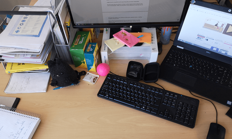Messy Desk Yearbook Photo