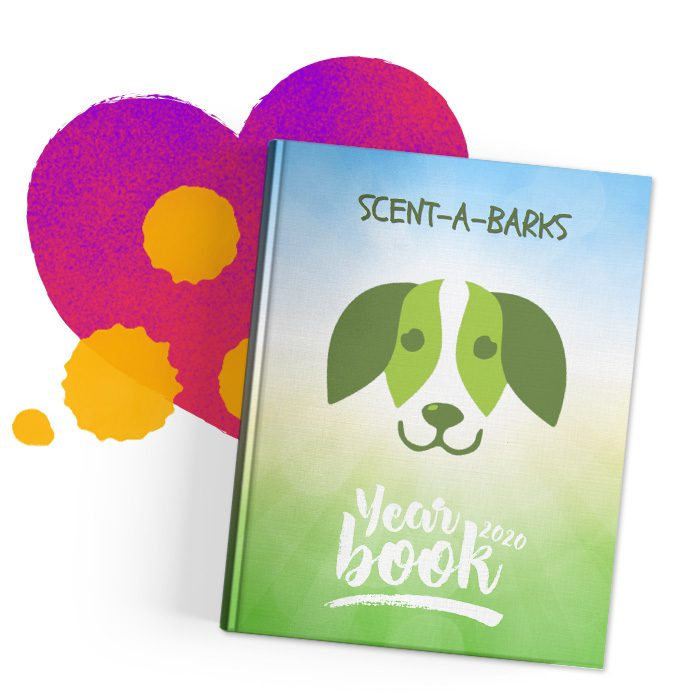 Scent-a-barks dog yearbook example