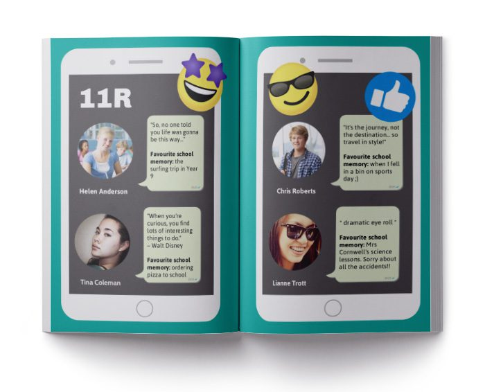 social media yearbook layout
