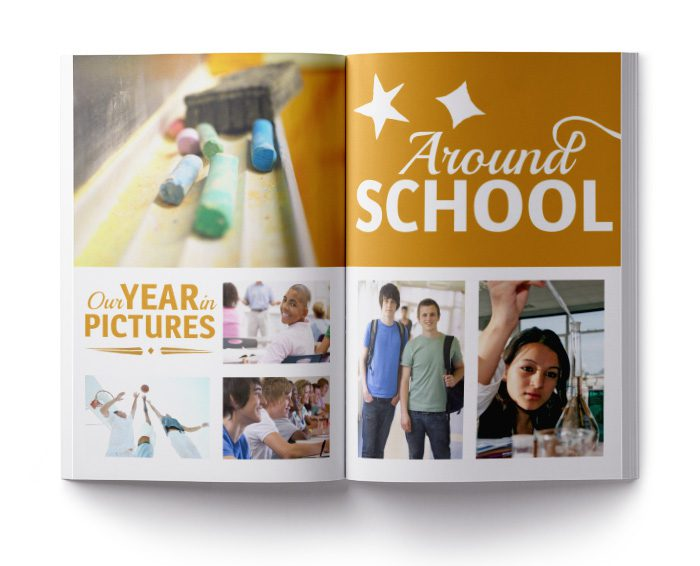 half-and-half yearbook layout